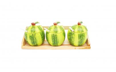 Set 3 recipiente pentru condimente