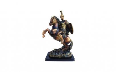 Statueta  Cal cu soldat 26x38 cm