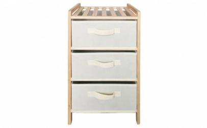 Dulap depozitare din lemn cu 3 sertare