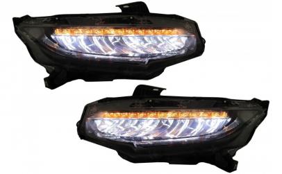 Set 2 faruri Full LED compatibil Honda