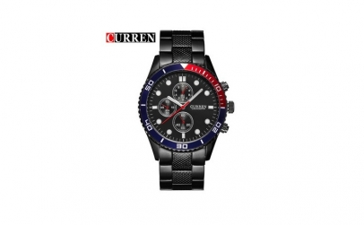 Ceas Curren C07 Black, Red and Blue