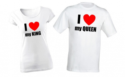 Pachet pentru cuplu I love my Queen/ I