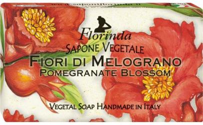 Sapun vegetal cu flori de rodie, 100 g