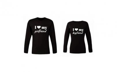Set 2 bluze negre pentru cupluri