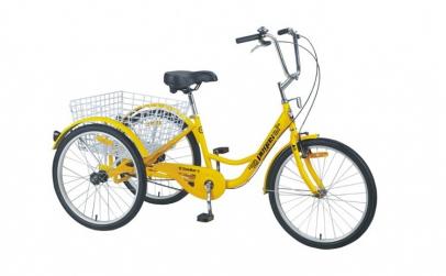 Pegas Senior Triciclu, 6 viteze, Galben