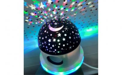 Lampa rotativa proiector stele, cu boxa