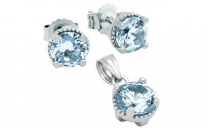 Set elegant din argint 925 cu zirconii