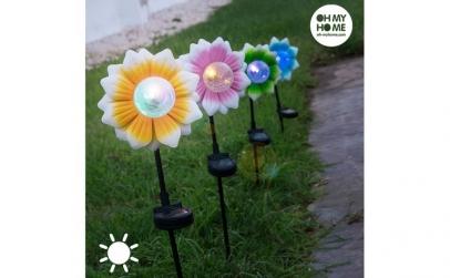 Floare Solara cu LED Multicolor Oh My