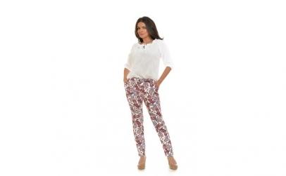 Pantaloni drepti paisley - floral