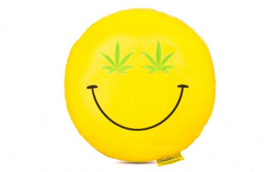 Perna decorativa Emoji Cannabis Happy