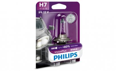 Bec Philips 12v, 55w, H7 visionplus +60%