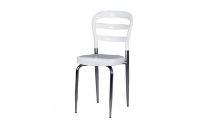 Scaun din policarbonat alb