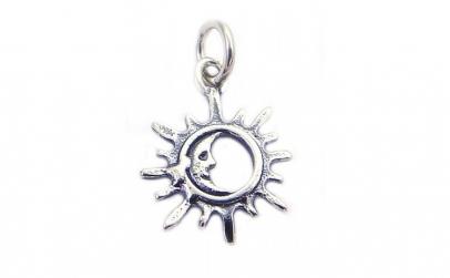 Pandantiv Argint 925 Soare Contur