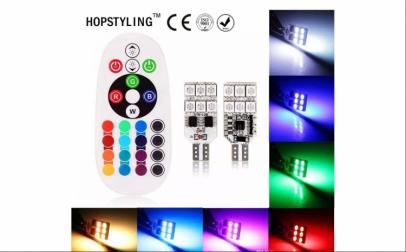 Set 2 becuri RGB Multicolor