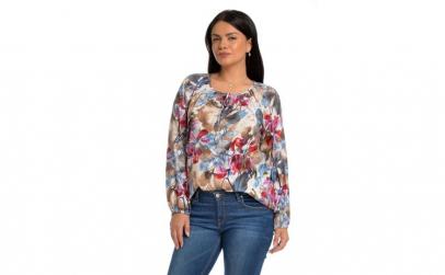 Bluza Ie Dama Multicolora cu Flori