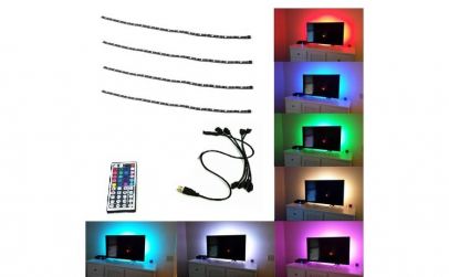 Kit banda LED RGB Lumina ambientala TV