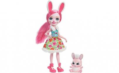 Papusa Enchantimals Bree Bunny cu