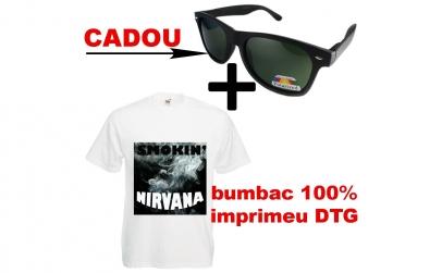 Tricou SMOKING NIRVANA + ochelari