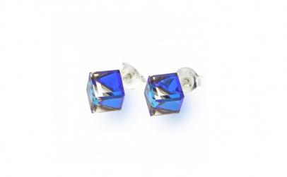 Cercei Cube Bermuda Blue 6mm