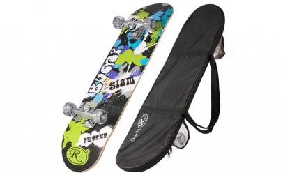 Skateboard cu husa RCO, ABEC5, PU, 78,5