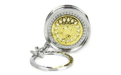 Breloc auriu/argintiu Janta Auriu