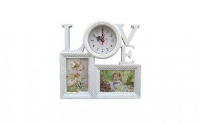 Rama foto cu ceas - Love 32X31 cm