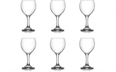 Set 6 pahare vin rosu Lav Misket, 210 ml