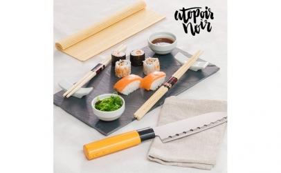 Set pentru Sushi cu Tava din Ardezie