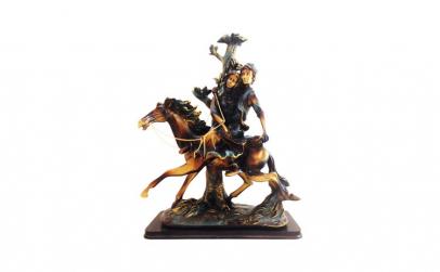 Statueta cuplu pe cal, 862D