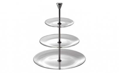Platou cu 3 nivele prajituri din sticla