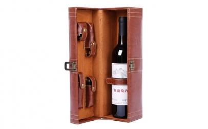 Geanta cadou tip cufar pentru vin