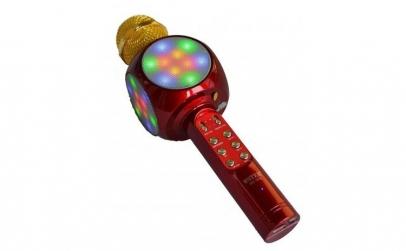 Microfon karaoke disco LED, fara fir Wst