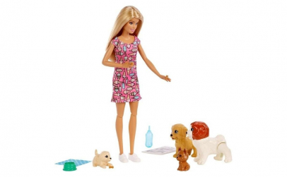 Set de joaca - Papusa Barbie Doggy Dayca