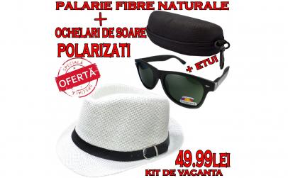 Kit vacanta: palarie+ochelari+etui