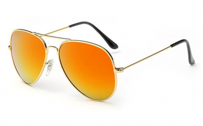 Ochelari de soare Aviator Orange - Gold