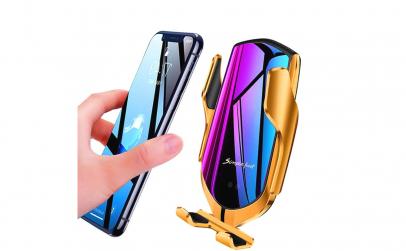 Suport telefon auto wireless