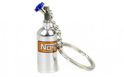 Breloc metalic butelie nitro Gri