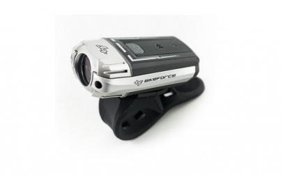 Far BIKEFORCE 300 LM USB negru/gri