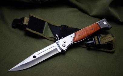 Cutit briceag inscriptionat AK-47 CCCP