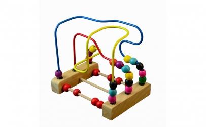 Labirint circuit bile lemn