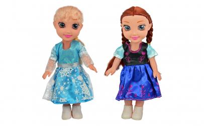 Set 2 papusi, Anna si Elsa, 25 cm