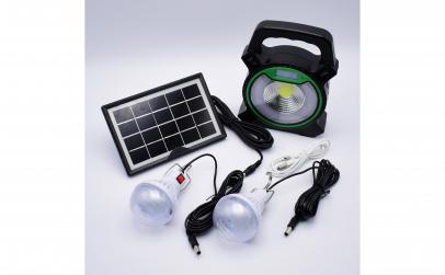 Kit panou solar cu 2 becuri si lampa