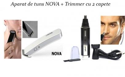 Aparat de tuns Nova + Trimmer 2 capete