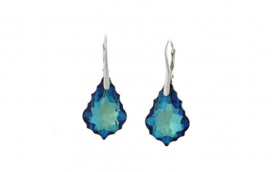 Cercei Baroque Leverback Bermuda Blue