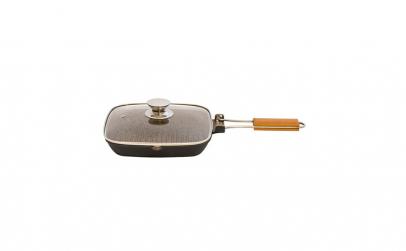 Tigaie grill aluminiu Grunberg, capac