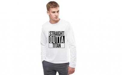Bluza barbati alba - Straight Outta