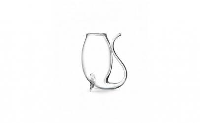 Set de 2 pahare din sticla in forma de