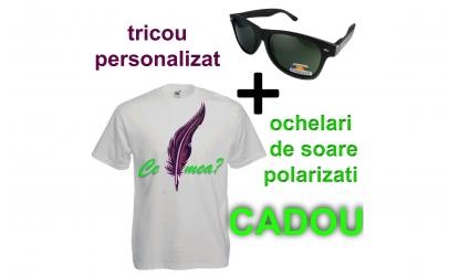 tricou personalizat+ochelari polarizati