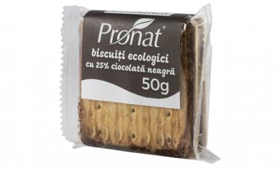 PRONAT - biscuiti bio cu 25% ciocolata