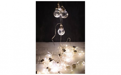 Ghirlanda-instalatie cu 10 becuri LED